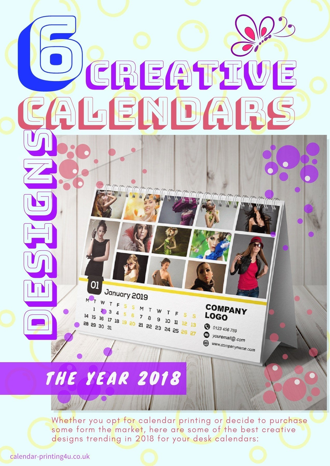 6 Creative Calendar Design Ideas For Your Desk For The Year 2019 Calendar 2019 Ideas