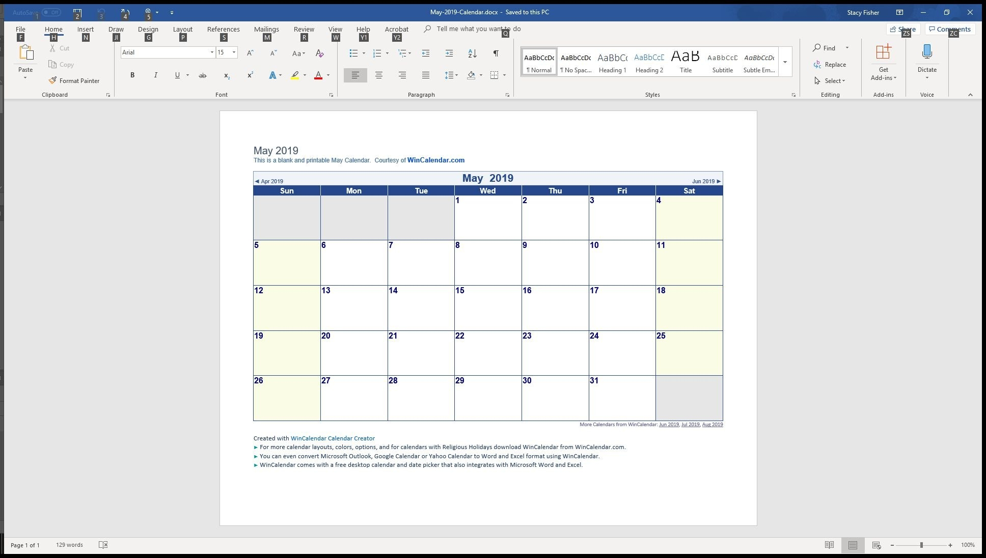 7 Top Place To Find Free Calendar Templates For Word 2019 Calendar 4-5-4