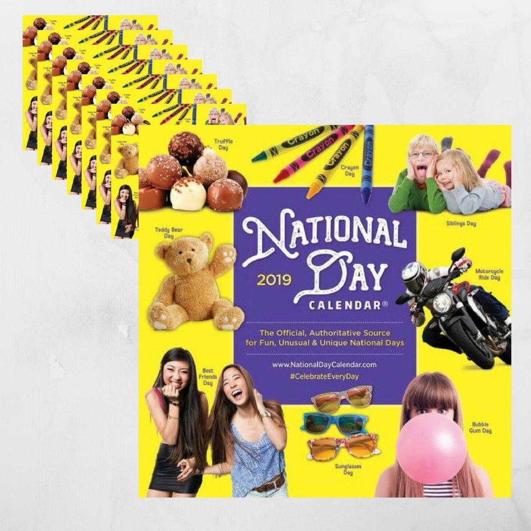 8-Pack | 2019 National Day Wall Calendar Calendar 2019 National Days