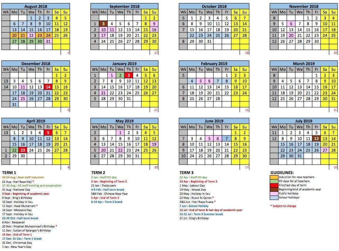 Academic Year Calendar - Gems International School | Metropark Calendar 2019 Kolkata