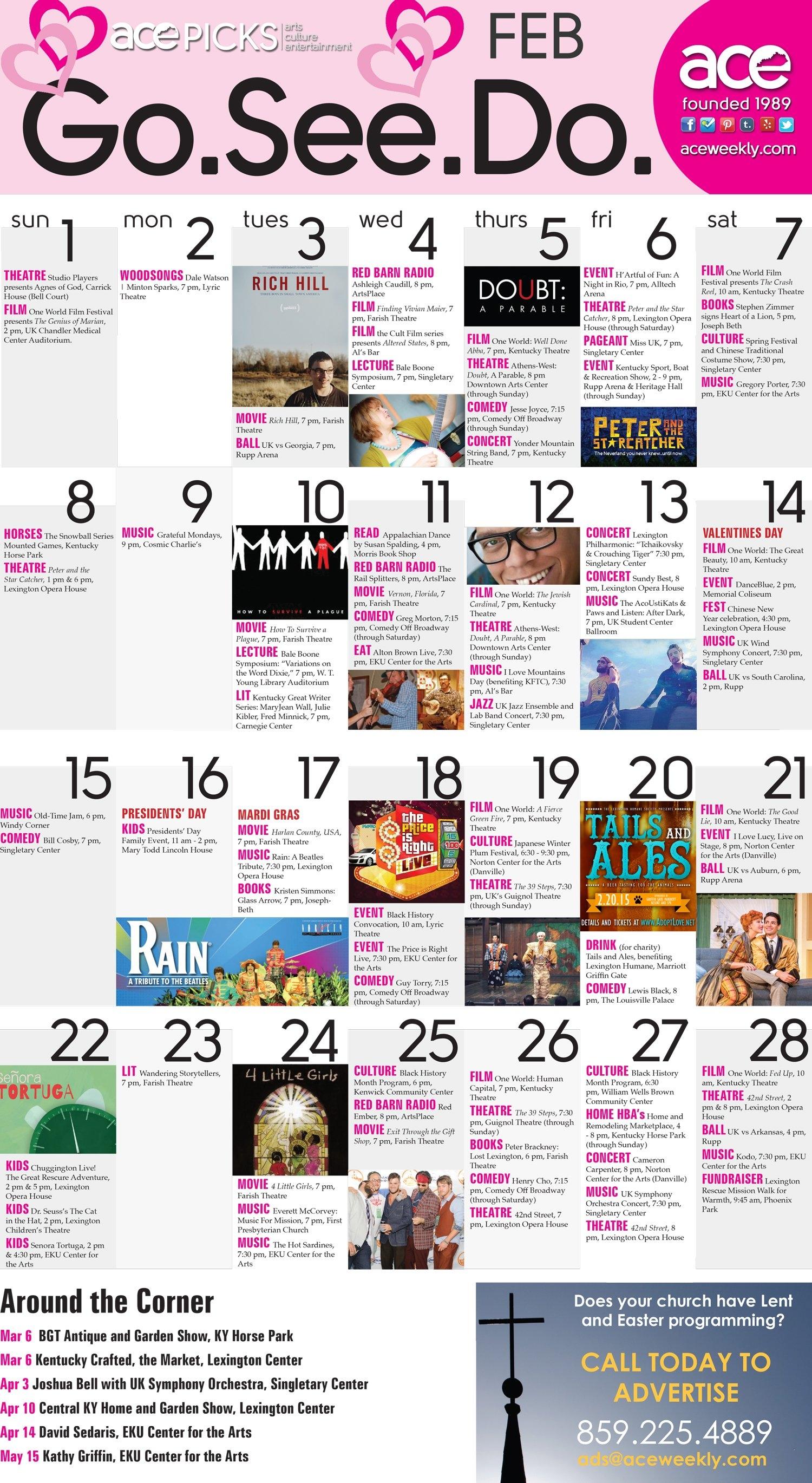 Ace Picks: Lexington Ky Events Calendar February 12 – 18 | Ace Weekly Lex Rich 5 Calendar 2019