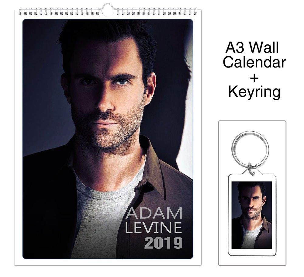 Adam Levine Maroon 5 2019 Wall Holiday Calendar + Keyring | Ebay Maroon 5 Calendar 2019