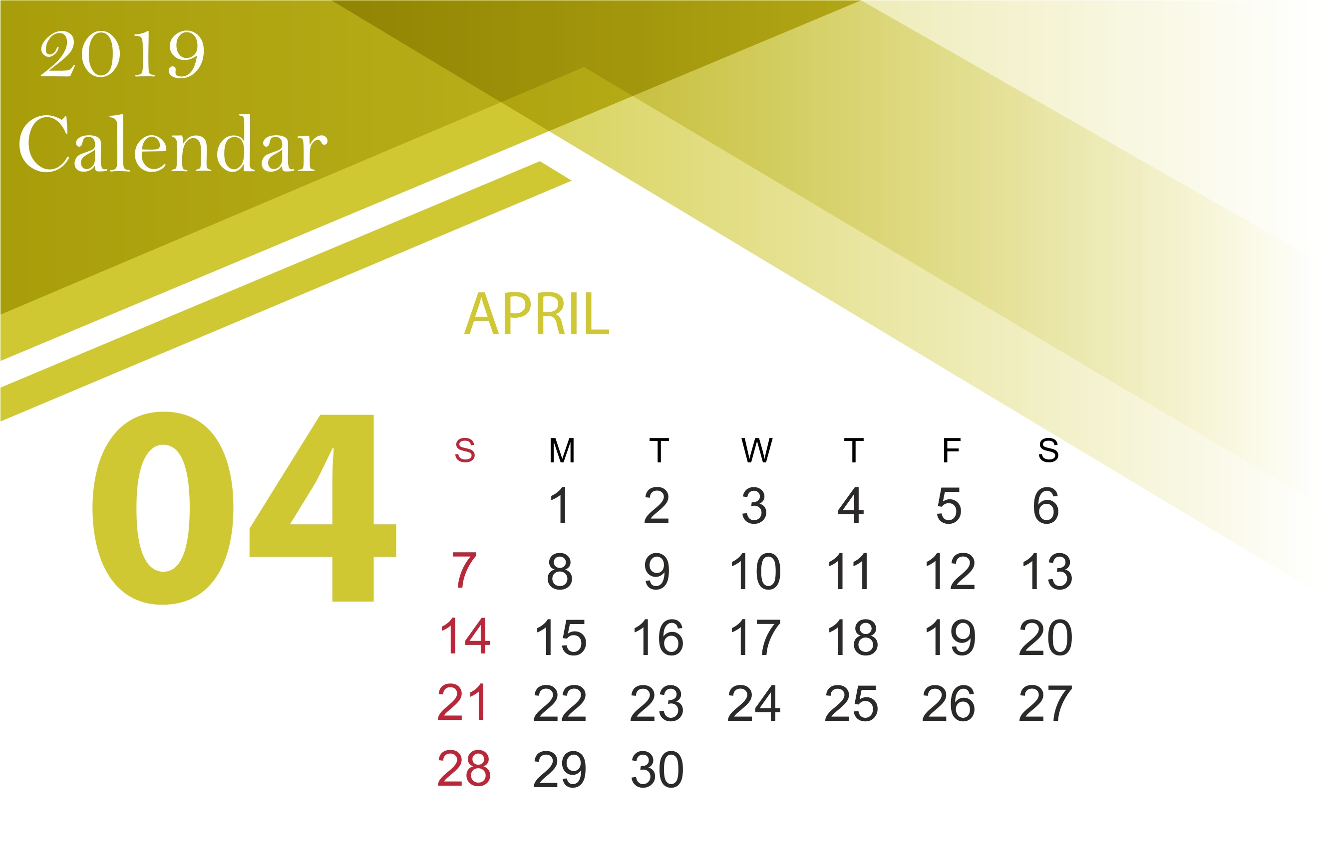 April 2019 Calendar Printable [Free] | Site Provides Calendar Calendar April 6 2019