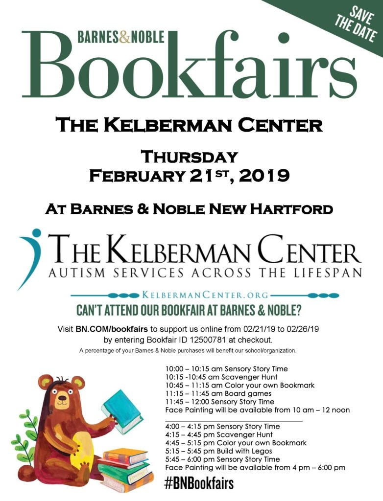 Barnes And Noble Bookfair - The Kelberman Center Calendar 2019 Barnes And Noble