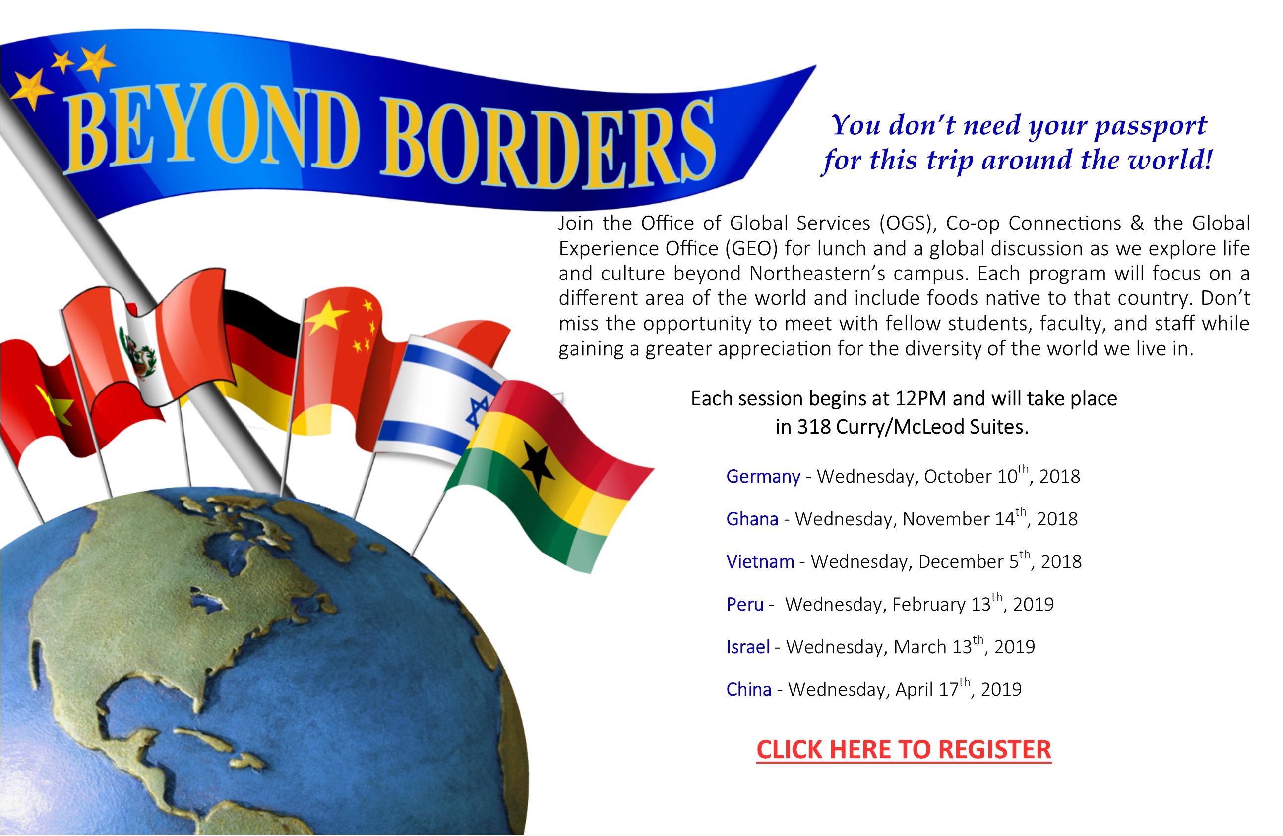Beyond Borders Series: 2018-2019 - Co-Op Connections At Northeastern Calendar 2019 Northeastern