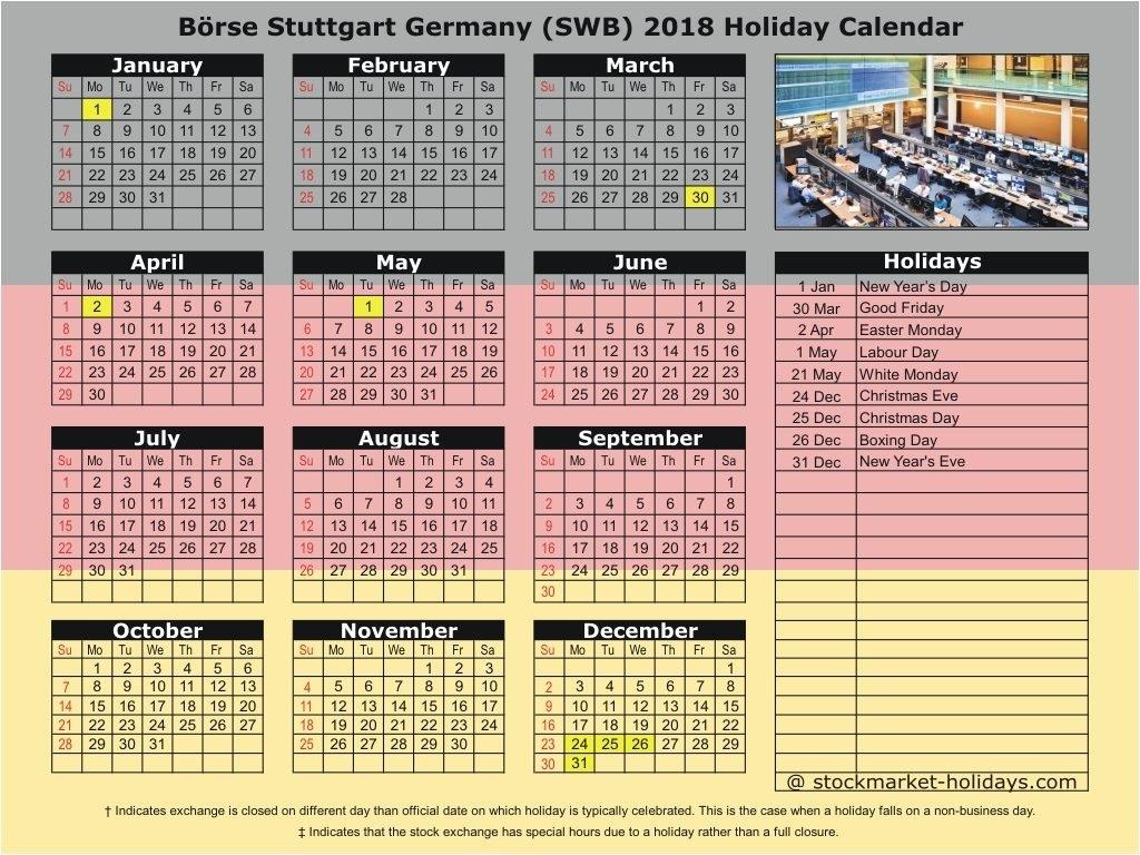 Börse Stuttgart Germany 2018 / 2019 Holidays : Swb Holidays 2018 / 2019 Calendar 2019 Germany Holidays