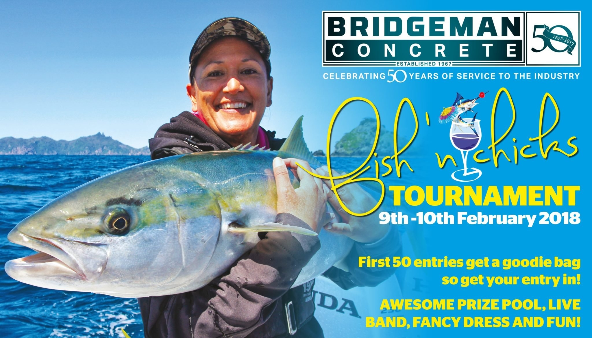 Bridgeman Concrete Fish N Chicks Tournament 2018 - Tauranga Sport Fish N Chix Calendar 2019