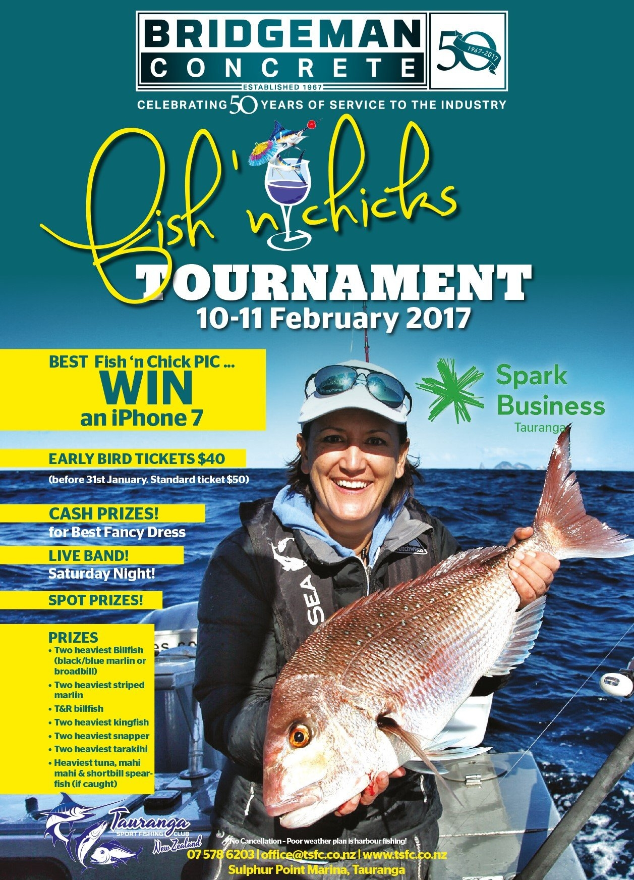 Bridgeman Fish N Chicks Tournament 10-11Th February 2017 - Tauranga Fish N Chix Calendar 2019