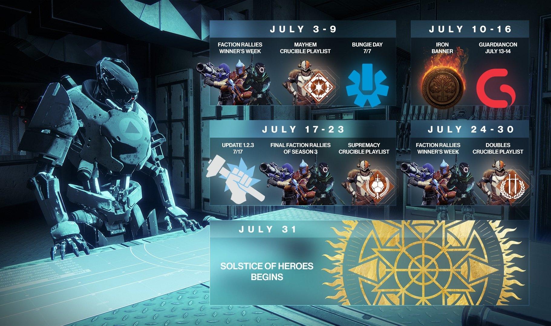 Bungie Details Next Few Weeks In Destiny 2, Announces Development Destiny 2 Calendar 2019