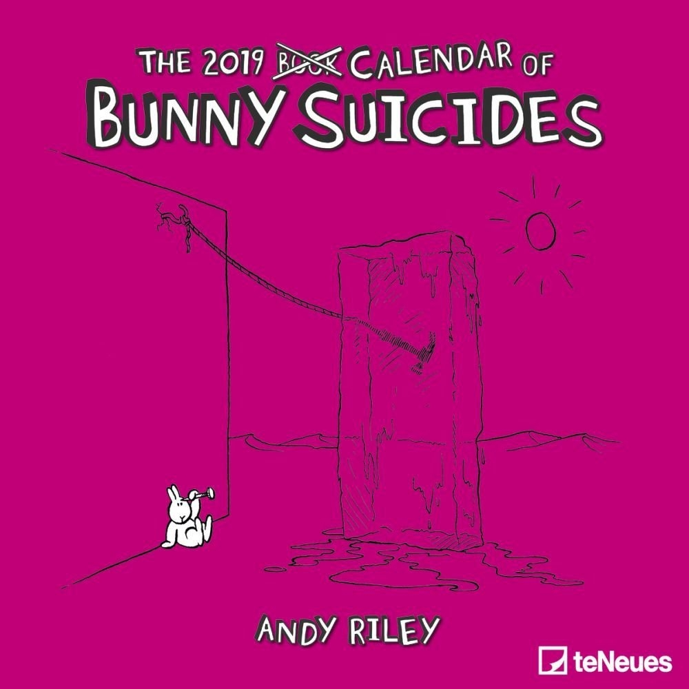 Bunny Suicides Wall Calendar-Calendars-Books & Gifts Studs N Spurs Calendar 2019