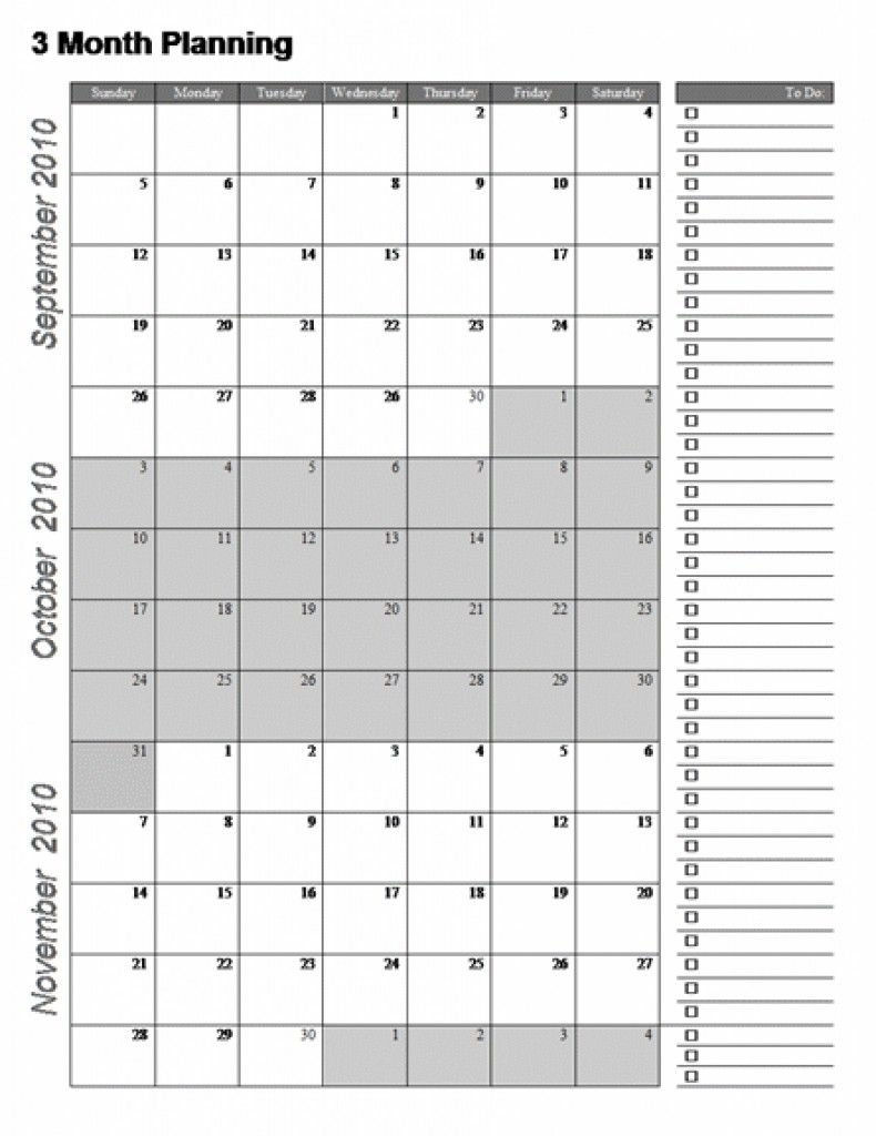 Calendar 2018 Template 3 Months Per Page Seven Photo Throughout Calendar 2019 3 Months Per Page