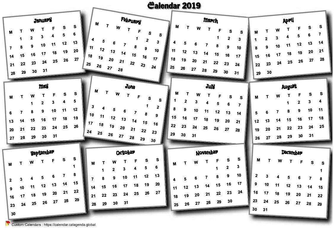Calendar 2019 Annual 3D Pell-Mell Calendar 2019 3D