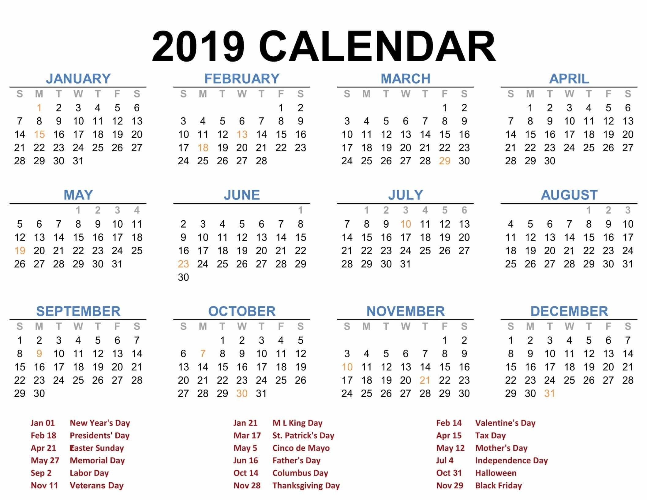 Calendar 2019 Blank Printable | ❤️creator Thyself ❤ | Calendar Calendar 2019 12