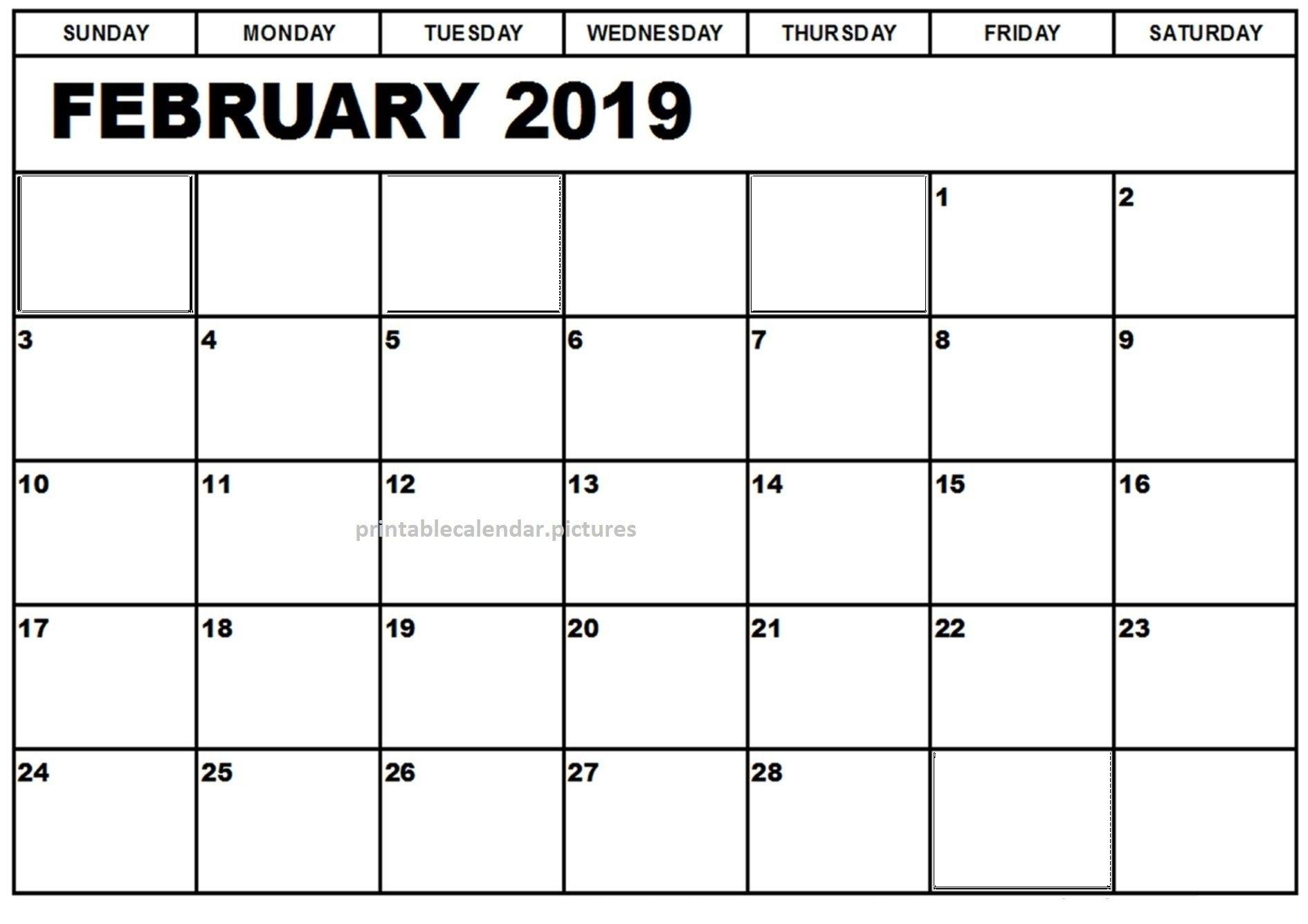 Calendar 2019 February Printable | Calendar Of February 2019 Calendar 2019 February Printable