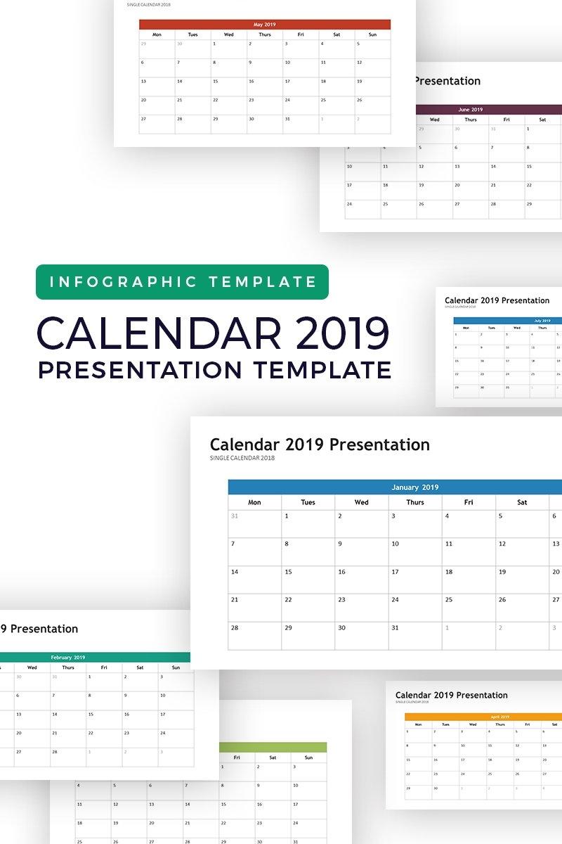 Calendar 2019 - Infographic Powerpoint Template #74264 Calendar Zoom 2019