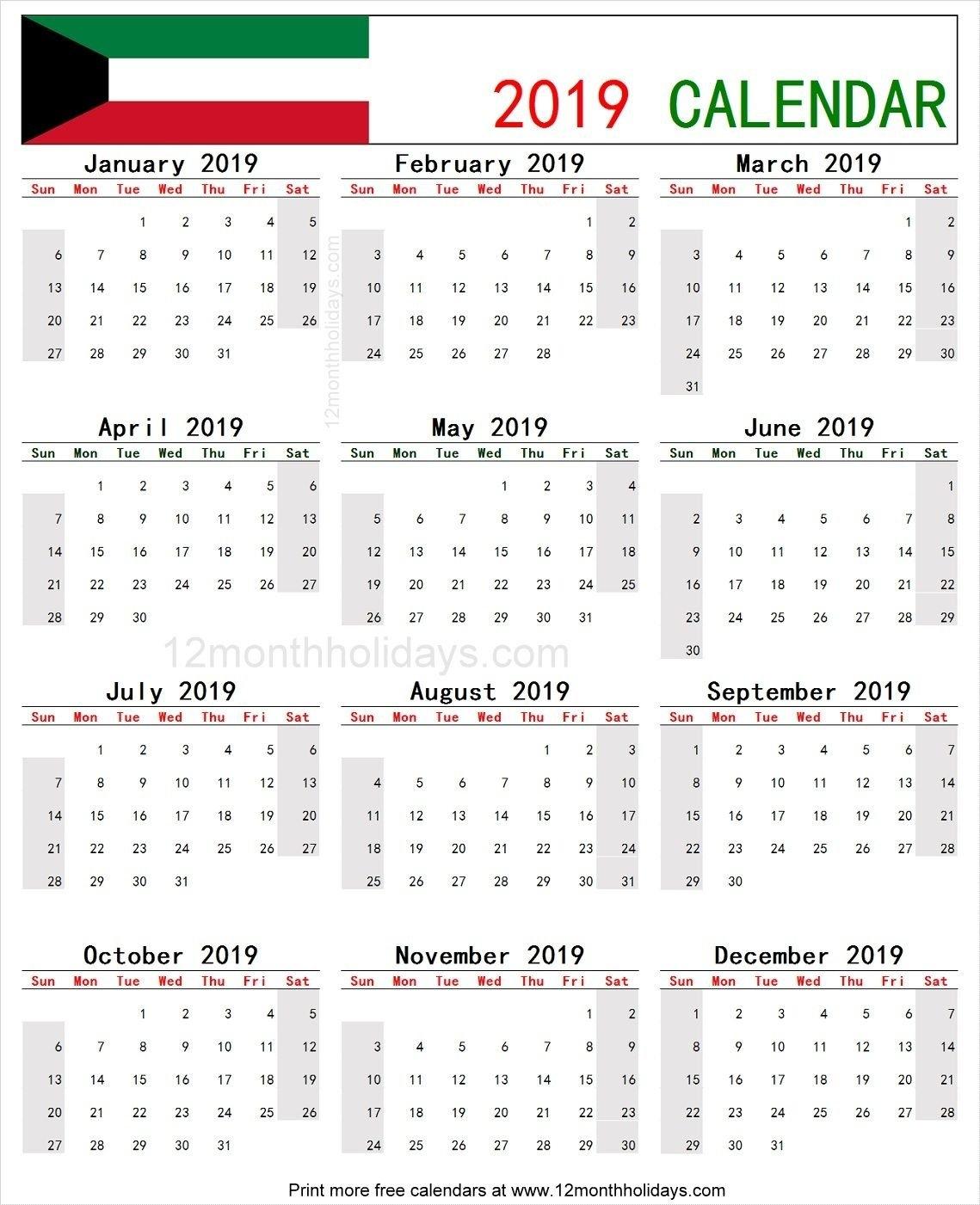 Calendar 2019 Kuwait | 2019 Yearly Calendar | Pinterest | Calendar Calendar 2019 Kuwait