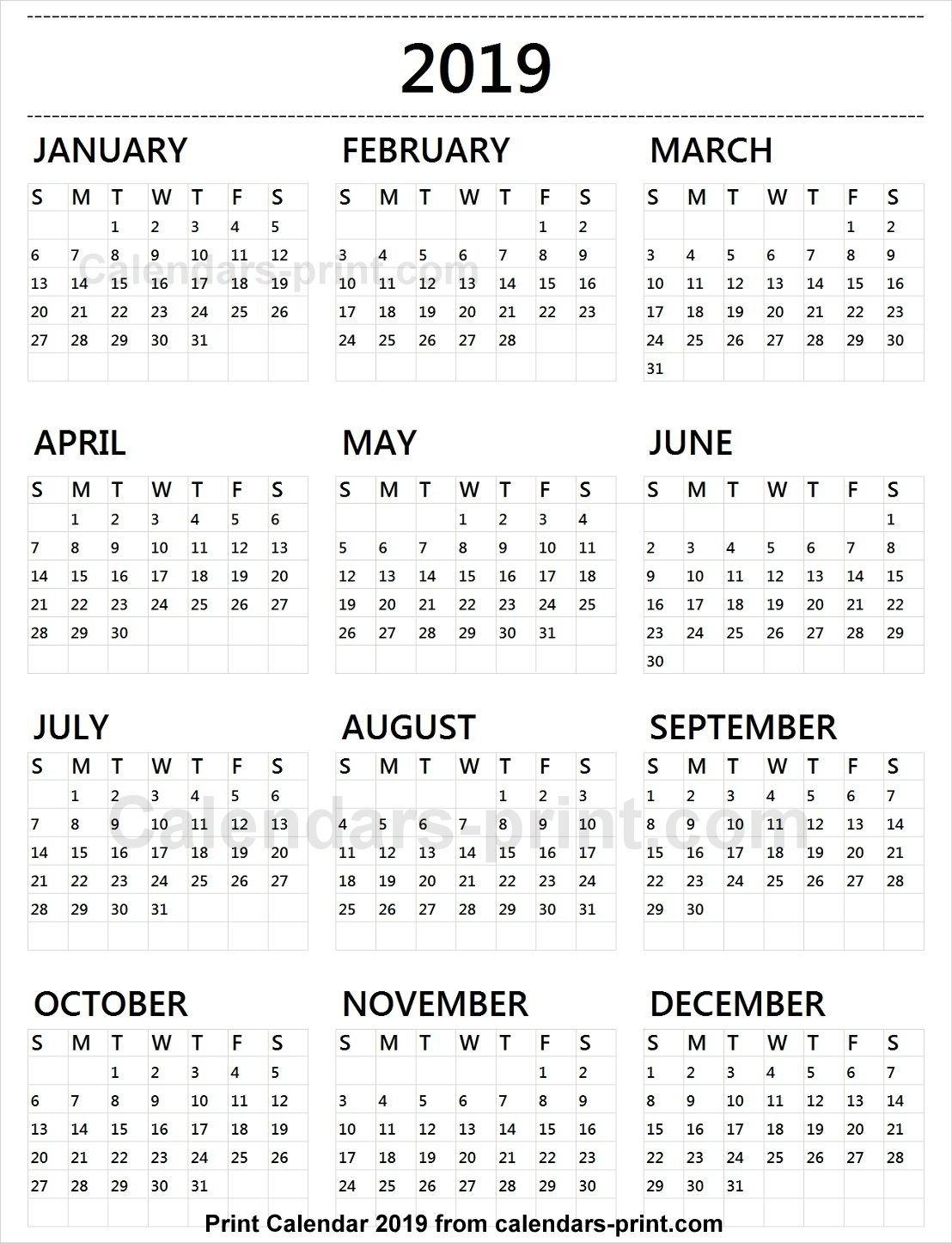 Calendar 2019 Tumblr | 2019 Yearly Calendar In 2019 | Calendar Calendar 2019 To Print