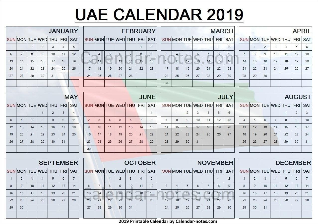 Calendar 2019 Uae With Holidays | Uae Calendar 2019 | Calendar, Uae U A E Calendar 2019