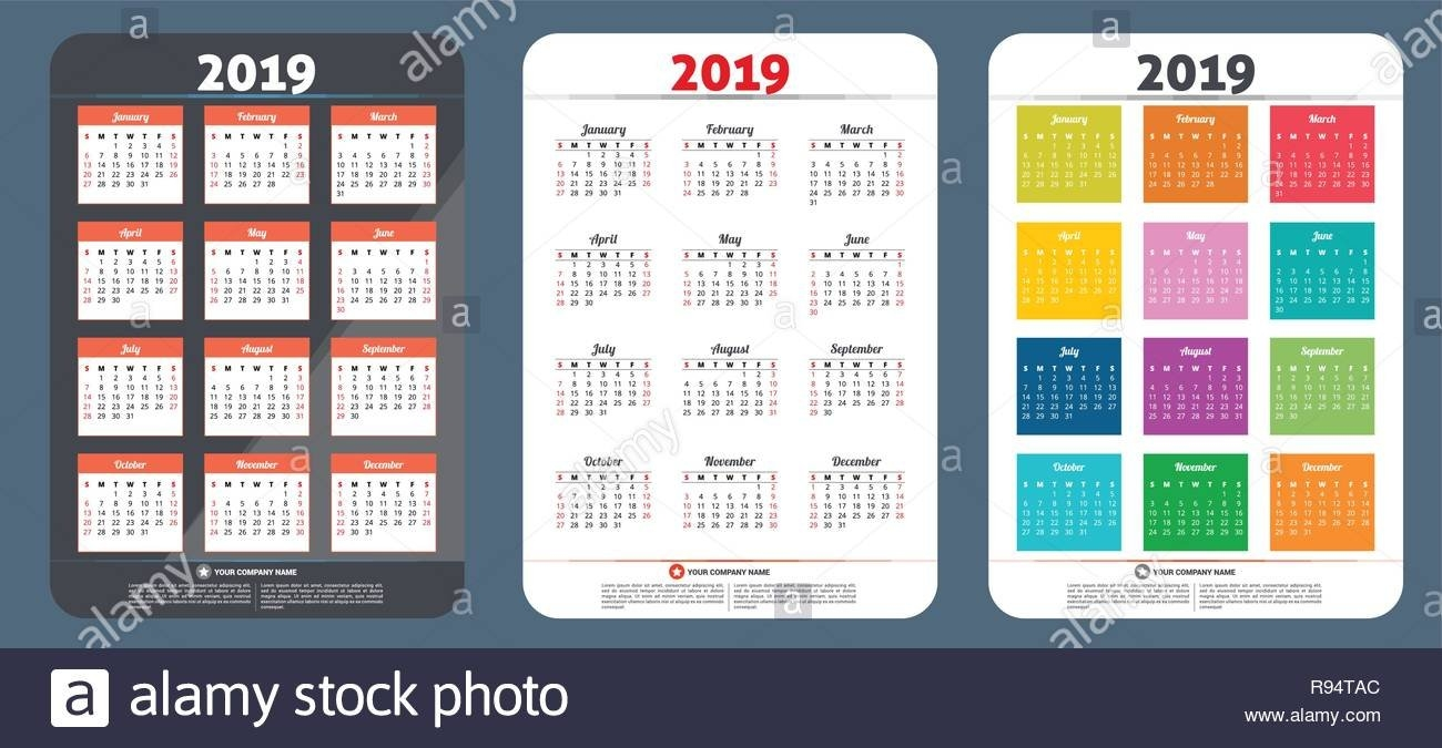 Calendar 2019 Vector Design. Sale Banner Template Design. All Calendar 2019 On Sale