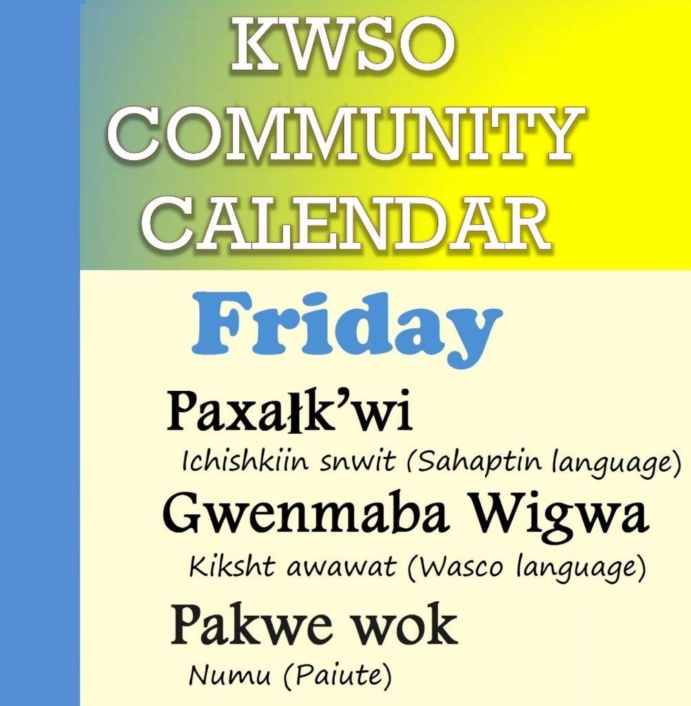 Calendar Fri., Feb. 8, 2019 - Kwso 91.9 509J Calendar 2019