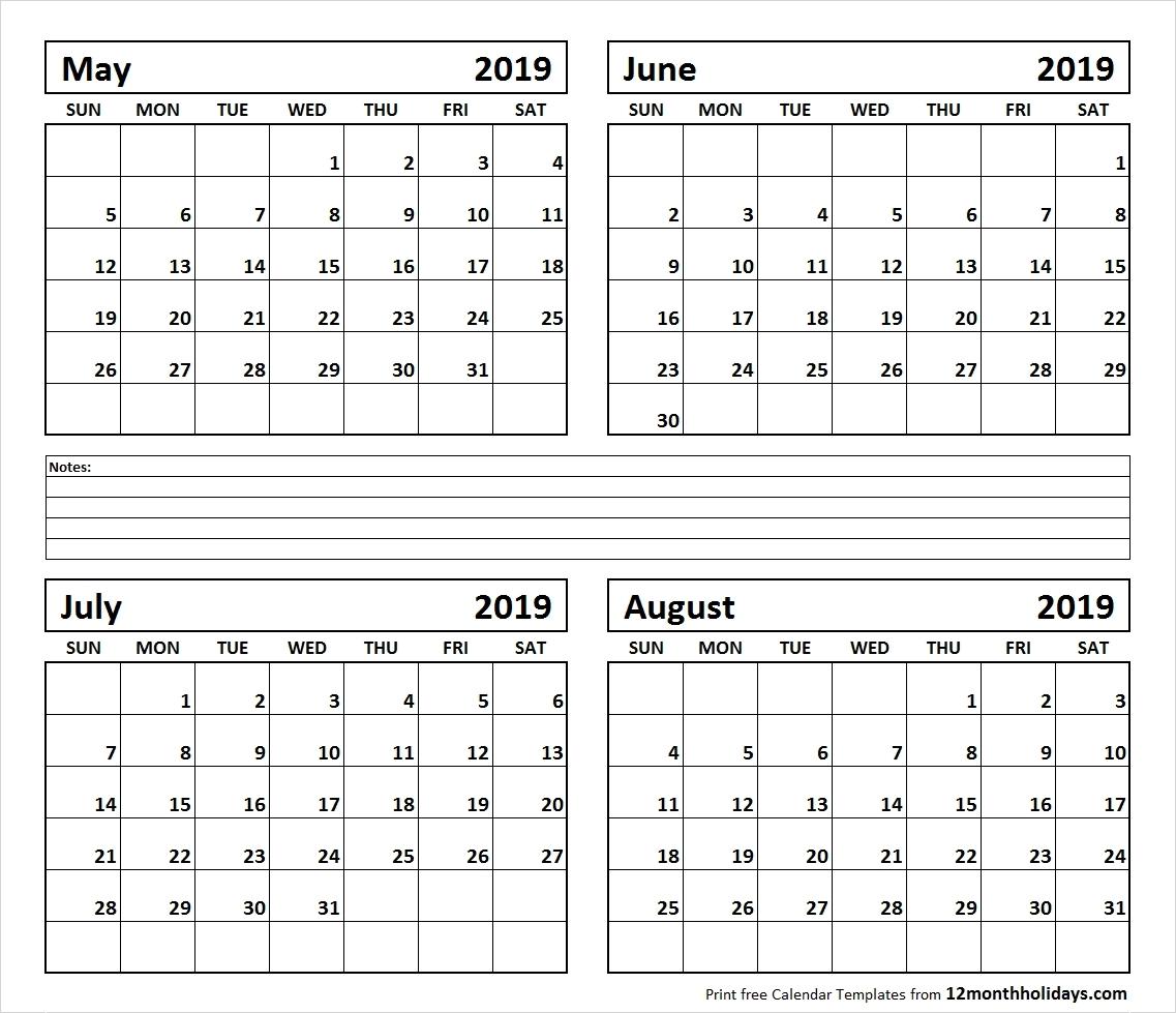 Calendar June-August 2019 | Template Calendar Printable Calendar 2019 June July August