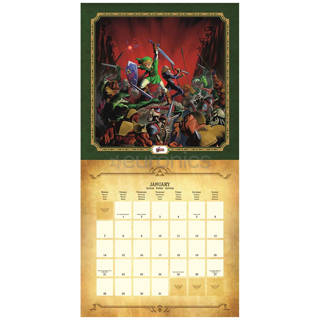 Calendar Legend Of Zelda 2019, 9781847578068 Zelda Calendar 2019