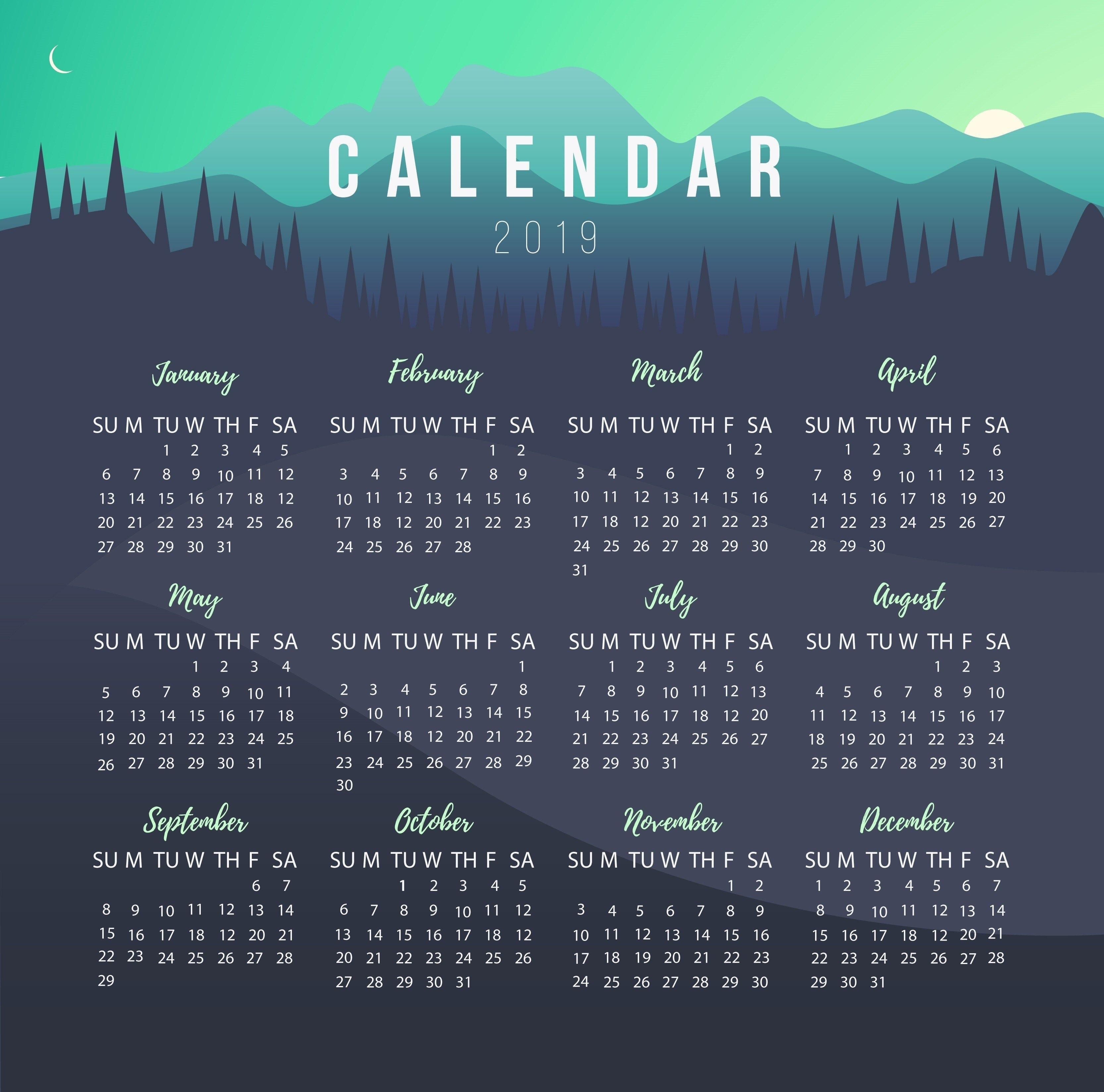 Calendar Maker In The Philippines | Dotph The Official Domain Name Calendar 2019 Maker