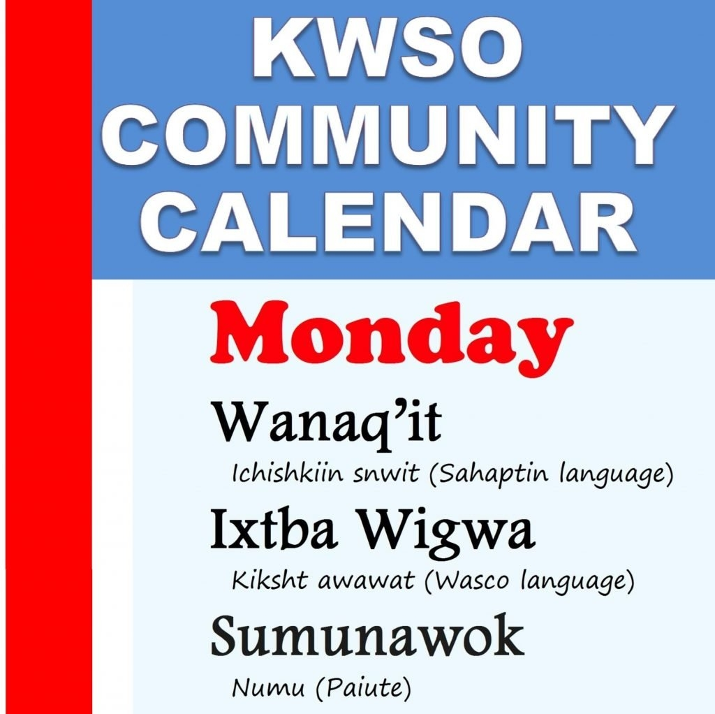 Calendar Mon., Feb. 11, 2019 - Kwso 91.9 509J Calendar 2019