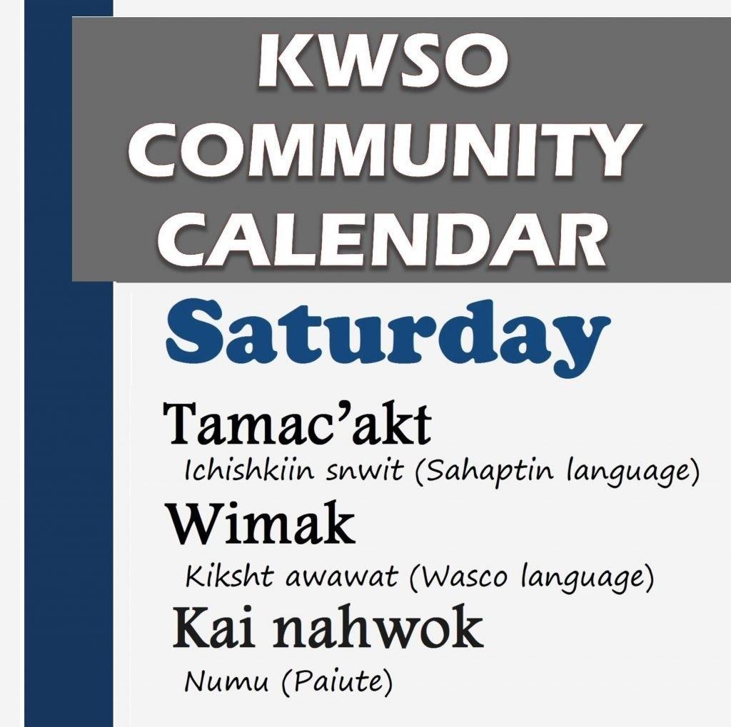 Calendar Sat., Feb. 9, 2019 - Kwso 91.9 9/2019 Calendar