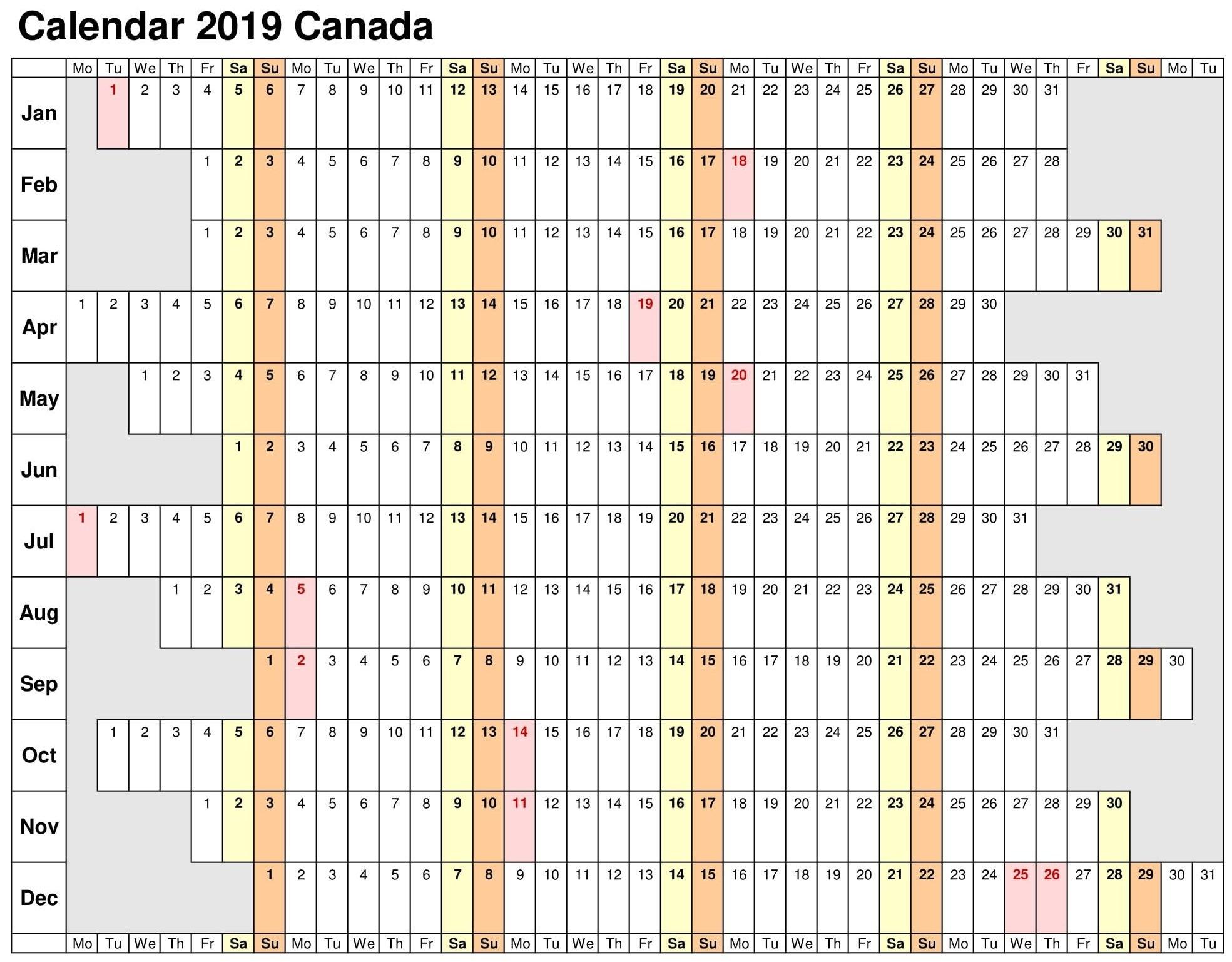 Calendar Template 2019 Excel – Free Calendar Templates & Worksheets Calendar 2019 Excel Free