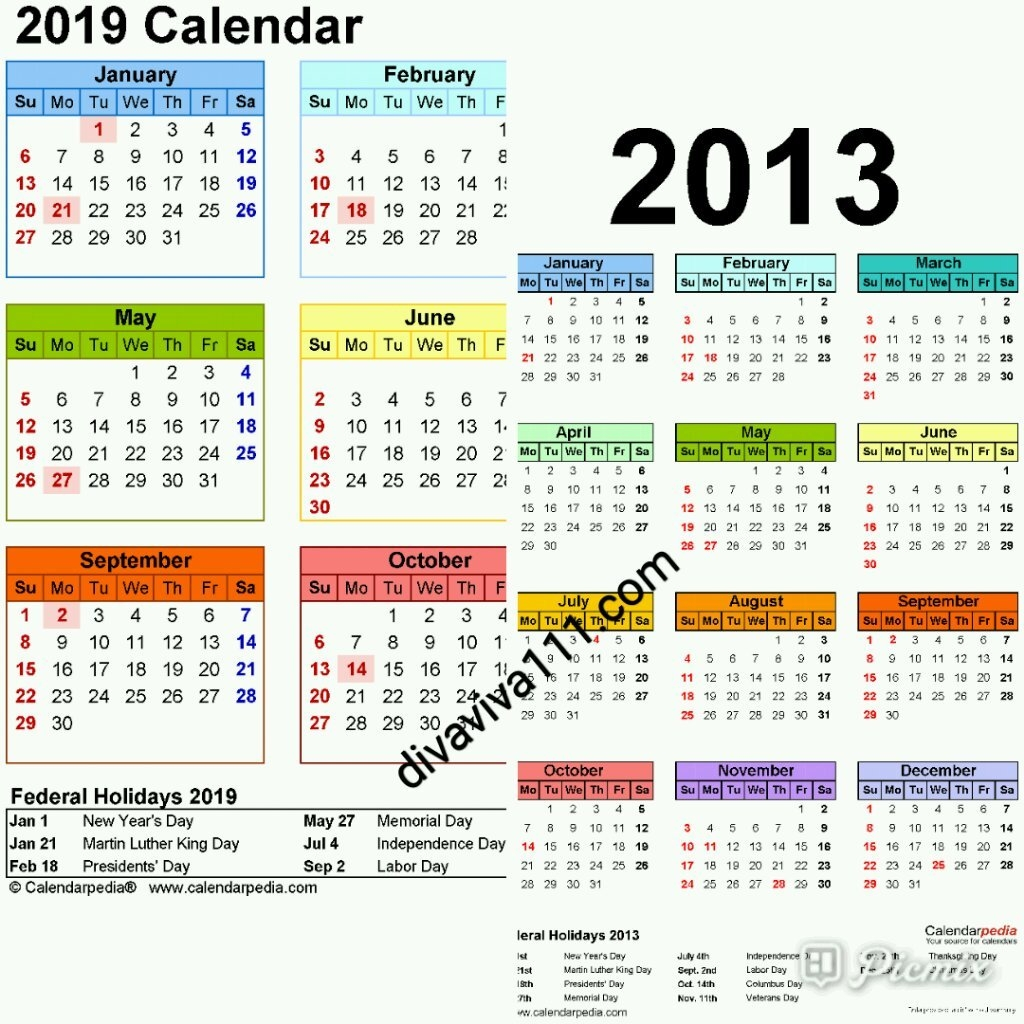 Calendar Year Same As 2019 - Swifte Calendar 2019 Same As
