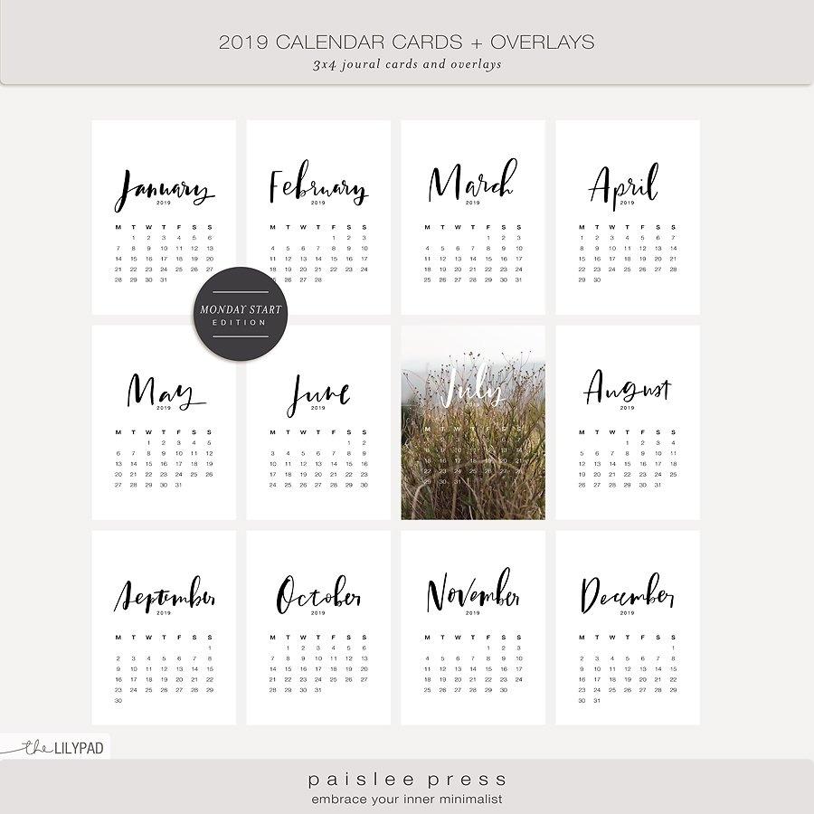 Calendars | Calendar Scrapbook Ideas – The Lilypad Calendar 2019 With Pockets