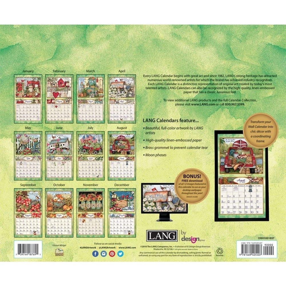 Calendarsdotcom: 2019 Bountiful Blessings Wall Calendar, Lang Folk Calendar 2019 Lang