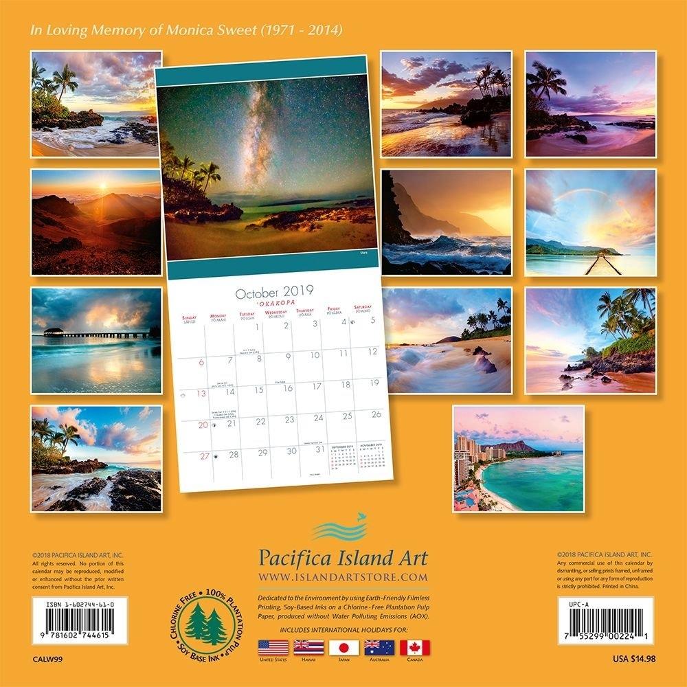 Calendarsdotcom: 2019 Hawaii Sunsets Wall Calendar, Hawaii Calendar 2019 Hawaii