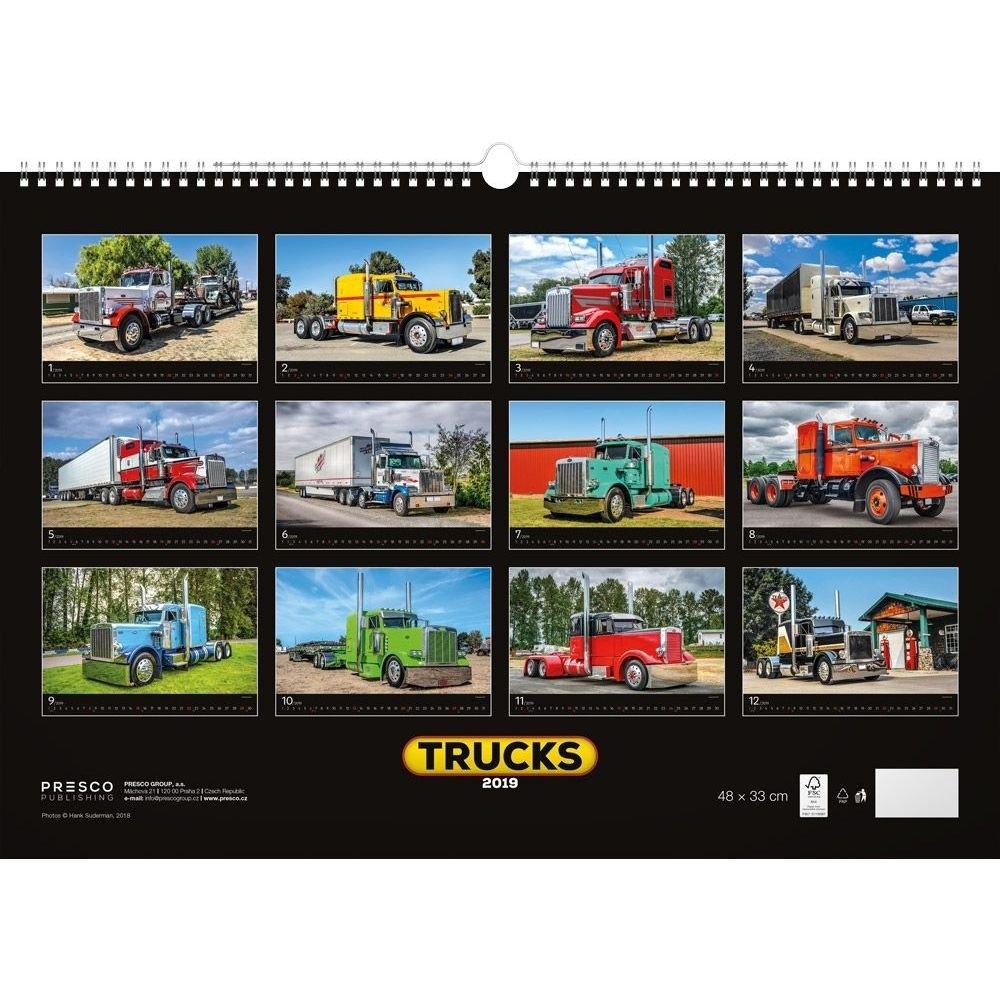 Calendarsdotcom: 2019 Trucks Poster Calendar, Trucks & 4Wdpresco 4Wd Calendar 2019