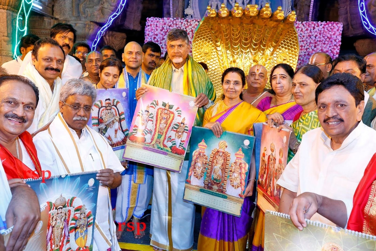 Chandrababu Naidu Launches Ttd 2019 Diaries And Calendars T T D Calendar 2019