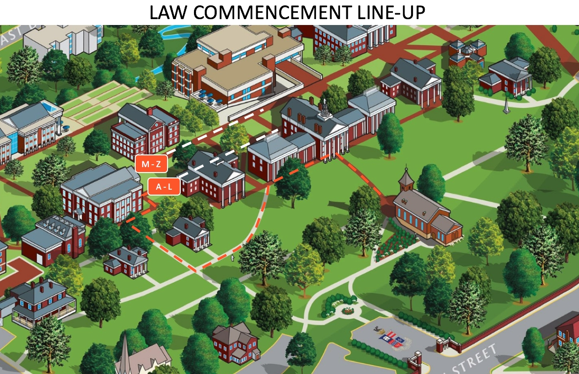 Commencement Procession Line-Up Instructions : Washington And Lee W&l Calendar 2019
