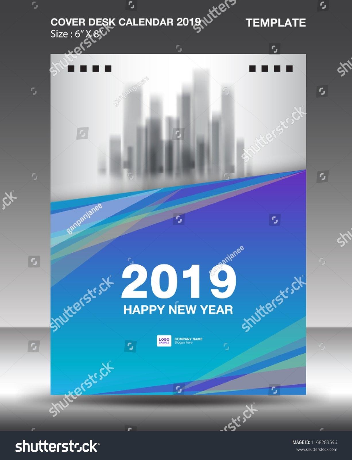 Cover Desk Calendar 2019 Design Template Stock Vector (Royalty Free Calendar 2019 Same As