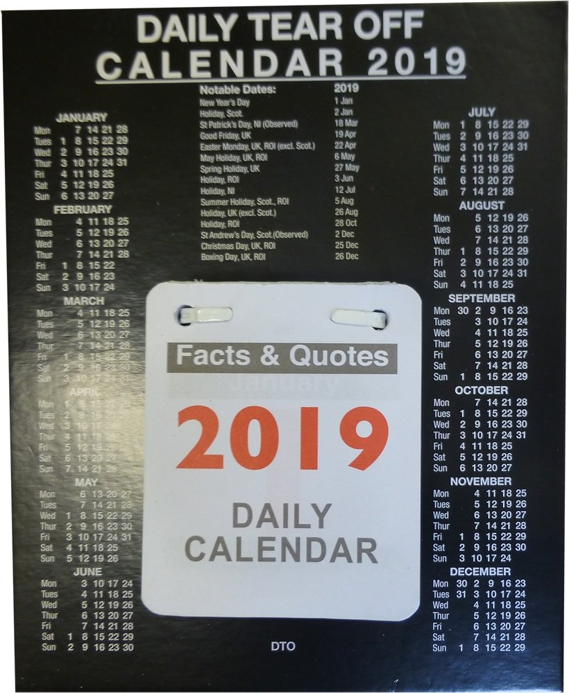 Daily Desk Calendar 150Mm X 185Mm 2019 Letts Yearly Calendar 2019 5-Tyc