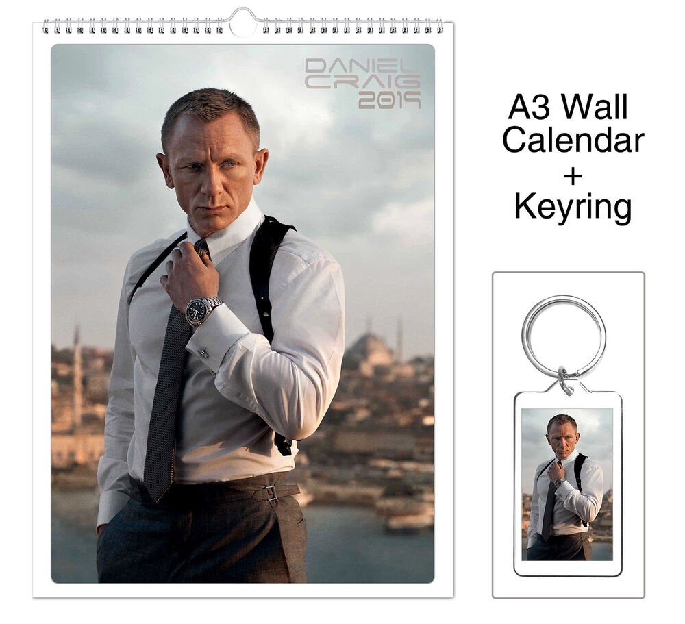 Daniel Craig James Bond 007 2019 Wall Holiday Calendar + Keyring | Ebay 007 Calendar 2019