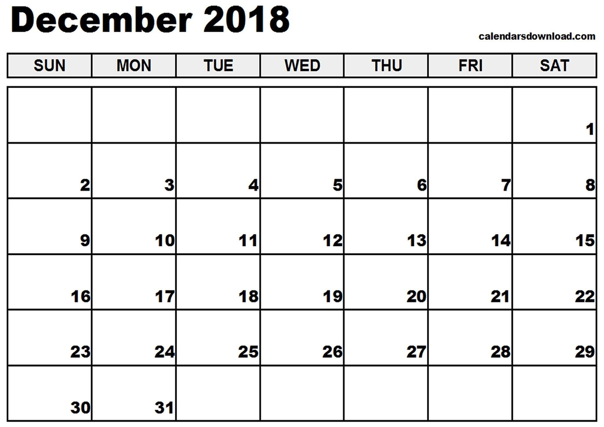 December 2018 Calendar Canada Pdf - Printable Calendar 2019| Blank Calendar Of 2019 Canada