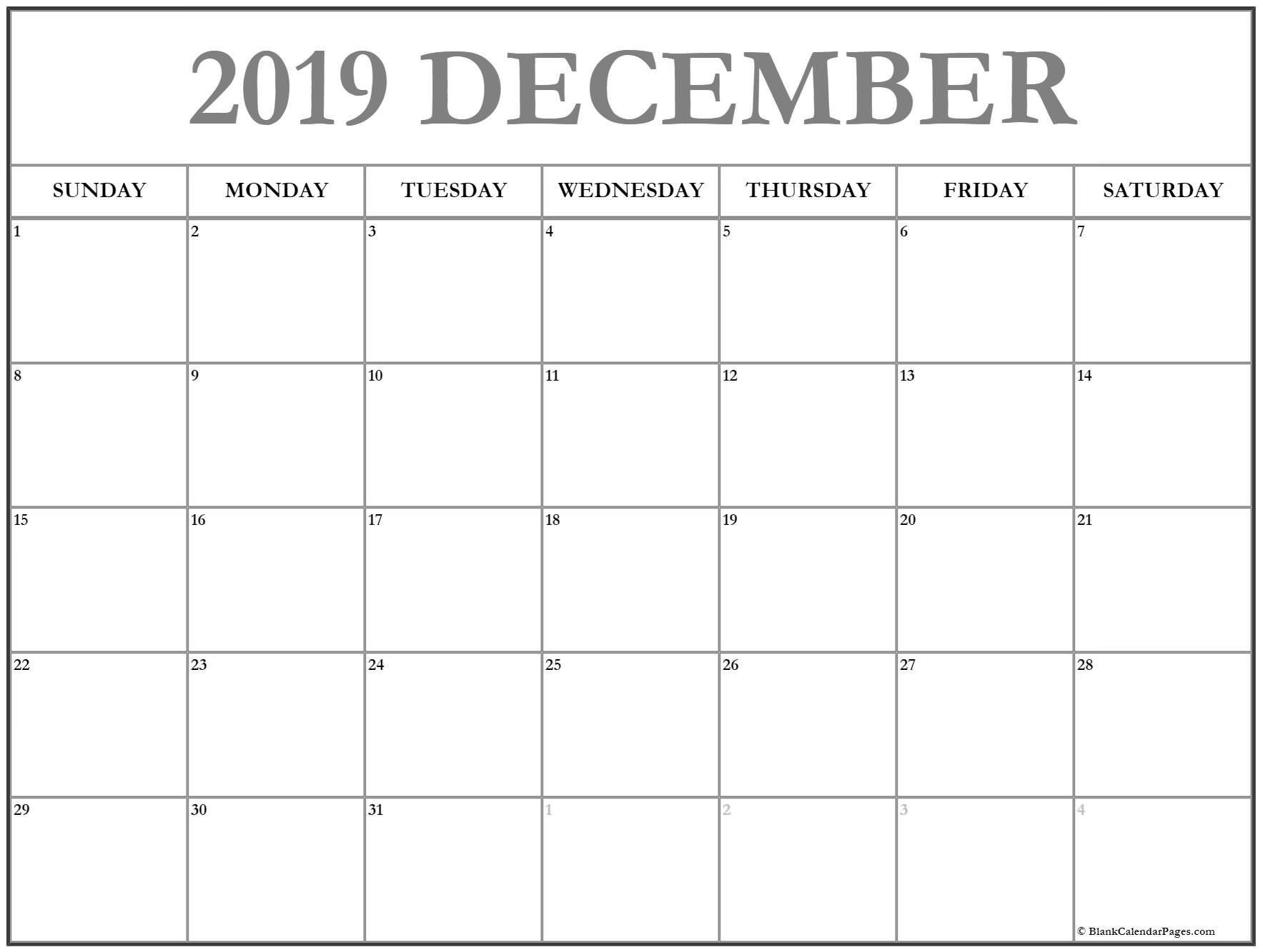 December 2019 Calendar | 56+ Templates Of 2019 Printable Calendars Calendar 2019 November December