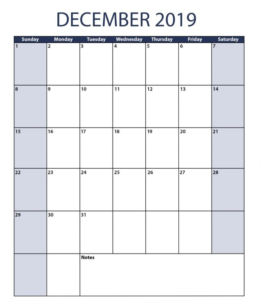 December 2019 Vertical Calendar | Calendar 2018 | Pinterest Calendar 2019 Vertical