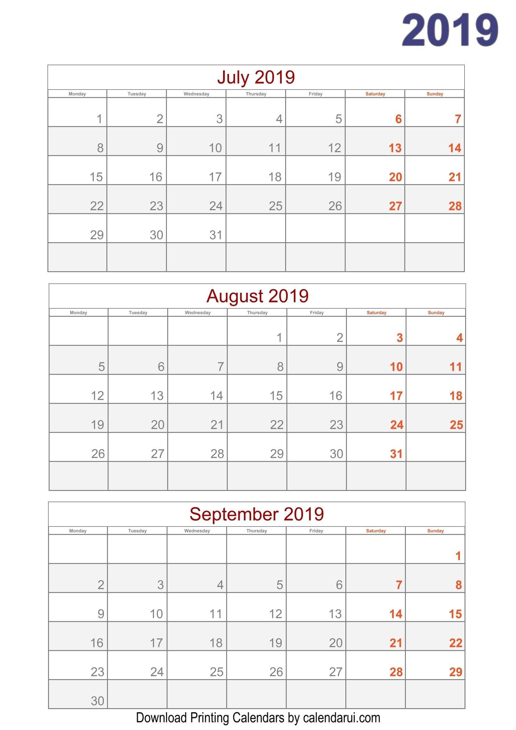 Download 2019 Quarterly Calendar Printable For Free   Calendar Calendar 2019 Quarterly
