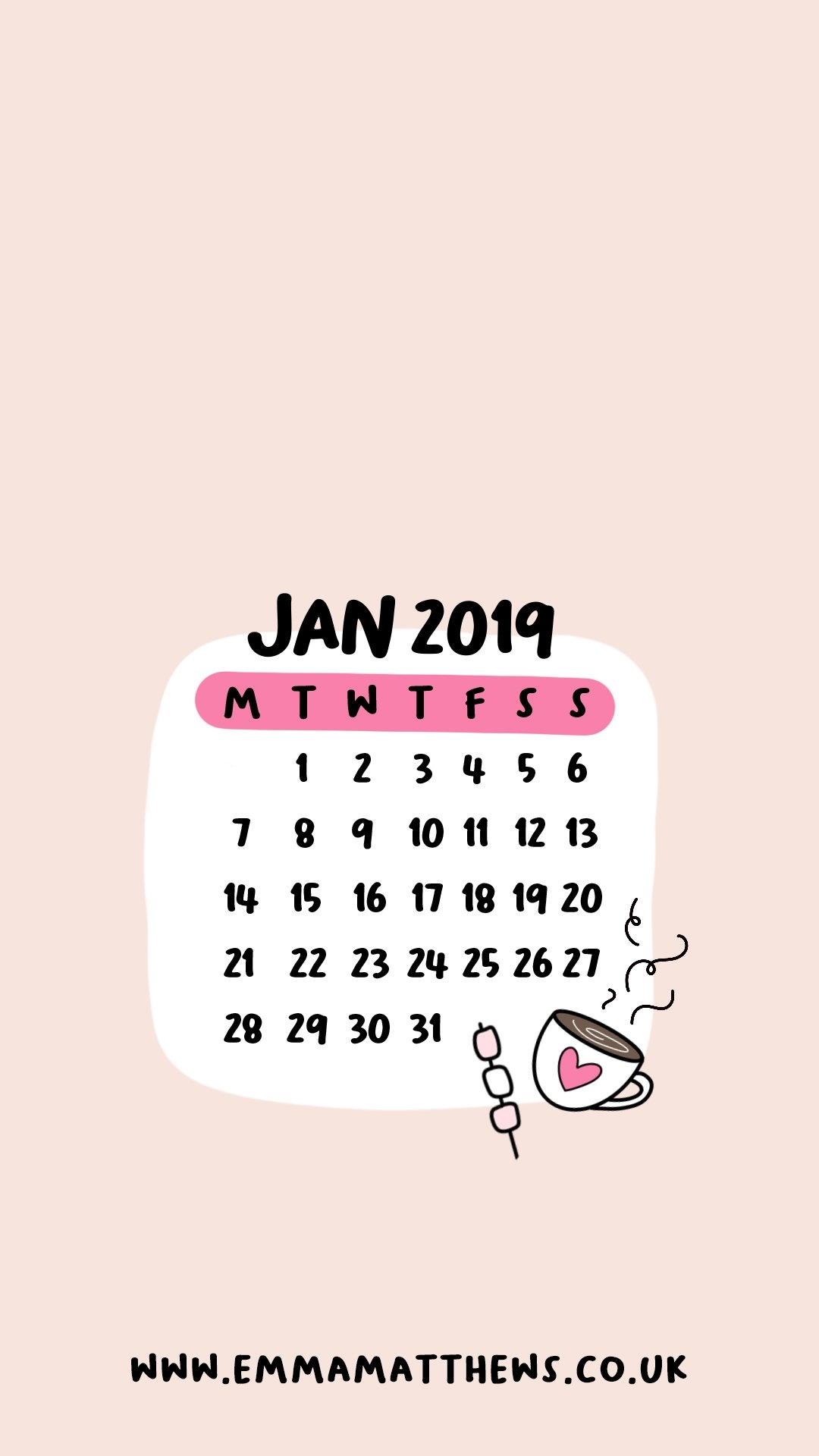 Download Free 2019 Iphone Calendar Wallpapers - Emma Matthews Calendar 2019 On My Iphone