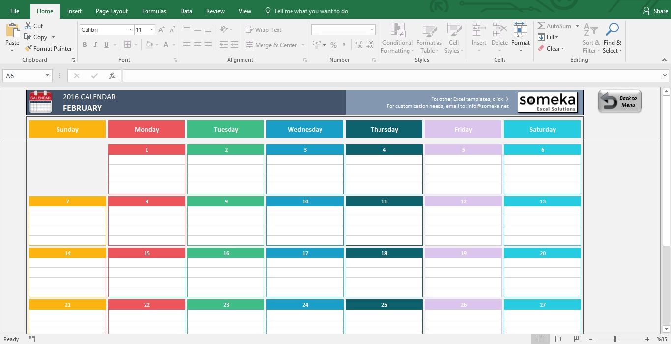 Excel Calendar Templates - Download Free Printable Excel Template Calendar 2019 Excel Spreadsheet