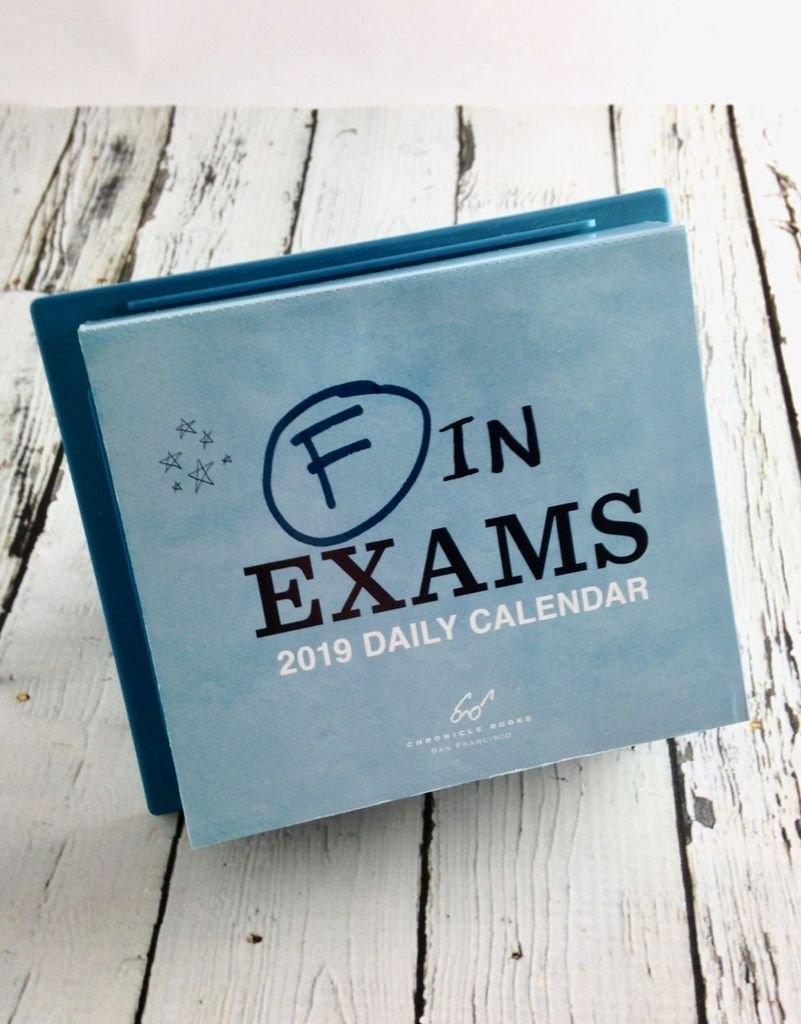 F In Exams 2019 Daily Calendar - Silver In The City F In Exams 2019 Calendar