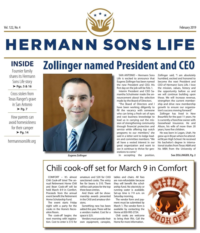 February 2019Hermann Sons Life - Issuu M Harding Roberts Calendar 2019