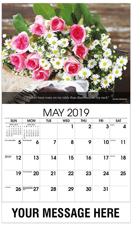 Flowers And Gardens Promo Calendar | 65¢ Business Advertising Calendar Calendar 2019 Flowers