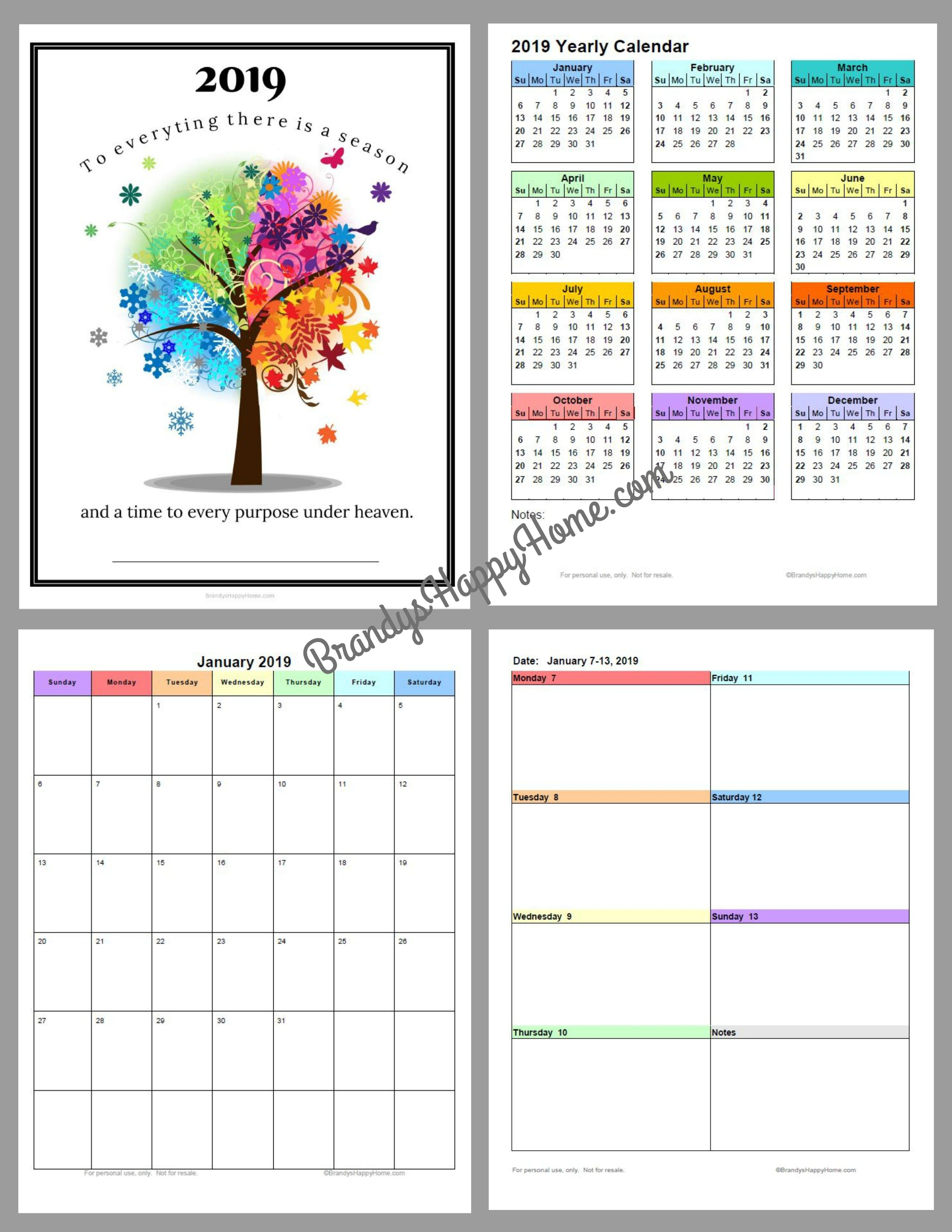 Free 2019 Diy Calendar Planner Printables 3/2019 Calendar